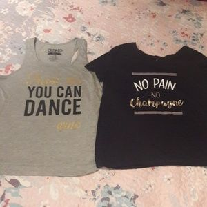 TWO workout tops
